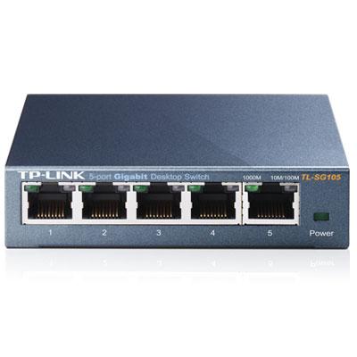 TP-Link TL-SG105 5埠 專業級Gigabit 鋼殼網路交換器