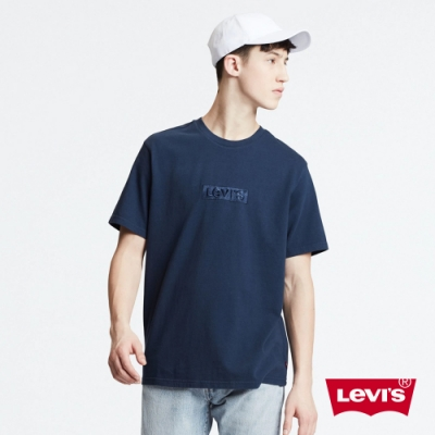 Levis 男款 短袖T恤 / 220GSM厚棉 / 同色刺繡Box logo
