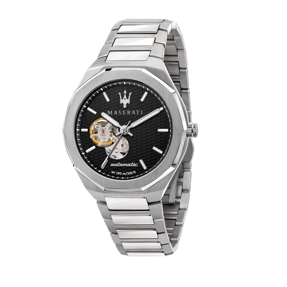 MASERATI 瑪莎拉蒂 STILE 三針鏤空機械腕錶42mm(R8823142002)