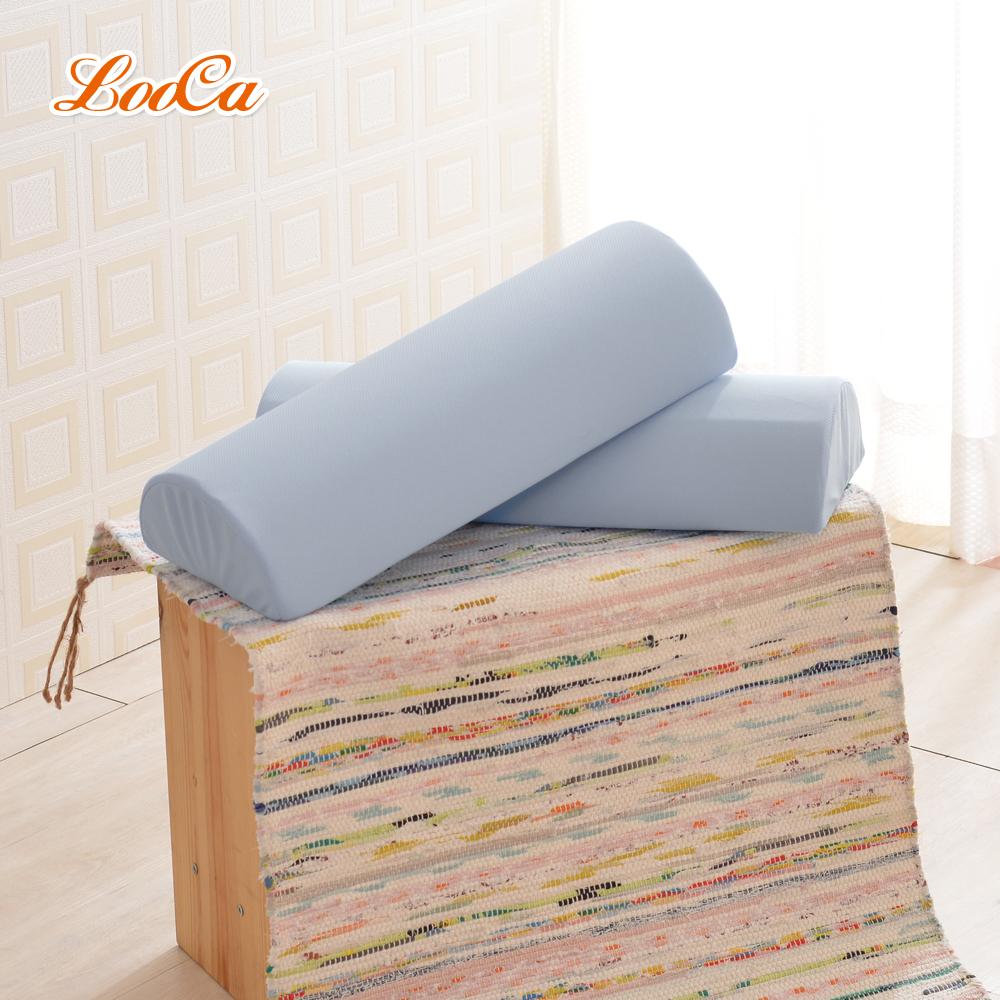LooCa 釋壓記憶棉萬用靠枕(吸濕排汗布套-可拆洗)灰