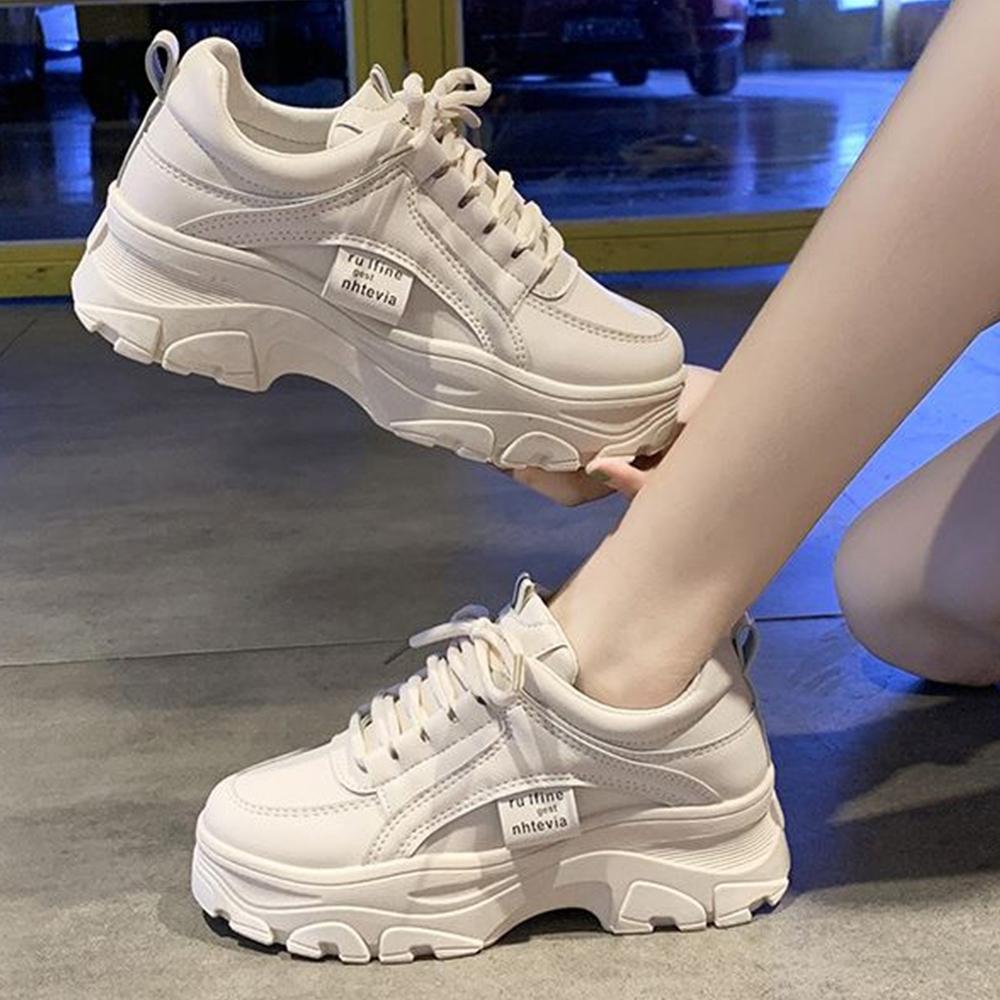 LN 現+預 韓系厚底增高顯瘦百搭老爹鞋-2色 (米色)