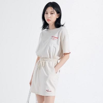 套裝 印花繫帶短袖短裙套裝HO0419-創翊韓都