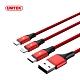 UNITEK  Lightning/ Micro USB/ Type-C 三合一編織充電線 product thumbnail 1