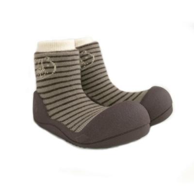 韓國Attipas 快樂學步鞋ASF01-棕紋森林