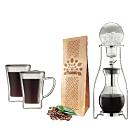 [Tiamo]#13冰滴咖啡壺10人份+雙層玻璃杯170cc-2入