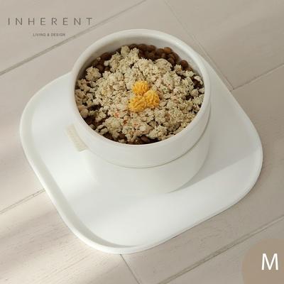 韓國Inherent Pudding 可堆疊寵物碗 寵物碗 狗碗 M 純淨白