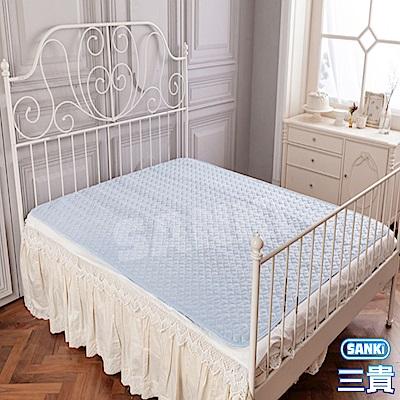 三貴SANKI 涼感紗立體3D透氣網床墊雙人加大(180*186)+2入枕墊
