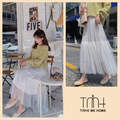 韓版多層紗裙-4色-TMH
