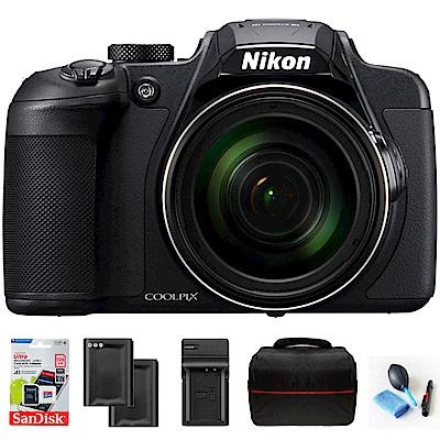 【超值組】Nikon coolpix B700 60倍望遠可翻式螢幕類單機 (公司貨)-黑