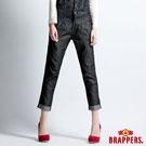 BRAPPERS 女款 Boy Friend 系列-吊帶燈籠九分反摺褲-黑