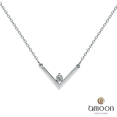 amoon 浪漫艾菲爾系列 美夢成真 9K金鑽石項鍊