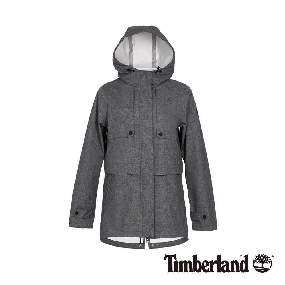 Timberland 女款深灰色連帽防水科技戶外外套 B3106
