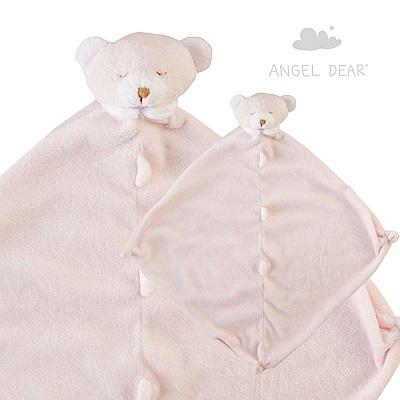 美國 Angel Dear 動物嬰兒安撫巾 (粉紅小熊)