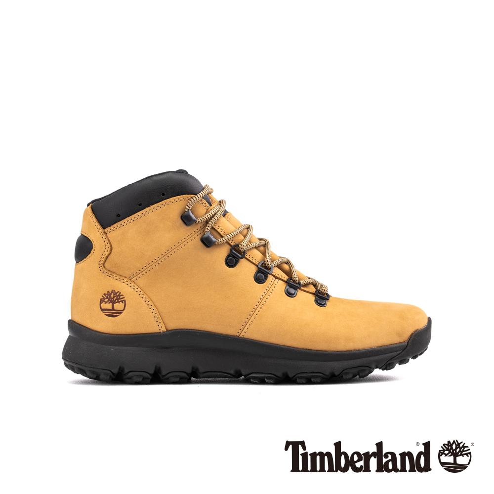 Timberland 男款米黃色防水運動登山中筒靴|A1WXF