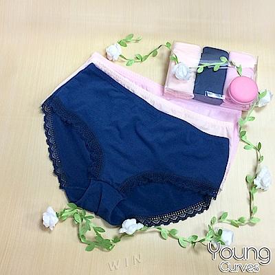 Young Curves 青少女童花邊無痕平口褲-混色3件組(C0420150)