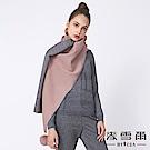 【麥雪爾】毛球別針雙色圍巾-共3色