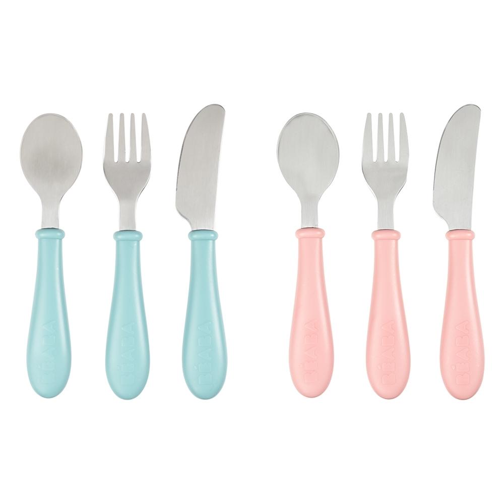 奇哥 BEABA 刀叉匙學習餐具組(2色選擇)