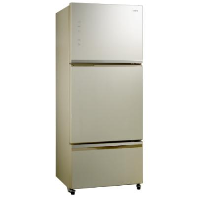 [福利品] SAMPO聲寶 530公升 1級變頻3門電冰箱 SR-A53GDV(Y5) 香檳金