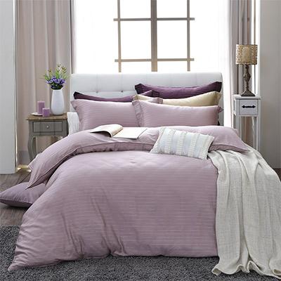 LASOL睡眠屋-100%奧地利天絲 特大兩用被床包四件組自然純色夢幻紫