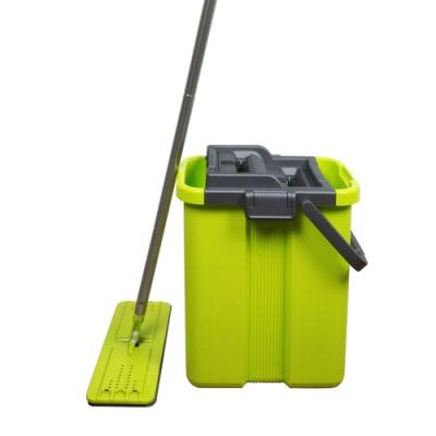 洗脫拖第二代雙槽平板拖把(1桿3布)