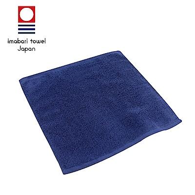 日本今治 輕柔蓬鬆無撚紗素色方巾(深海藍)