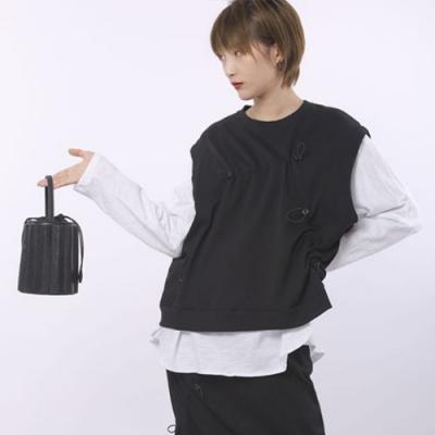 設計所在Style-時尚套裝背心+裙子黑色氣質顯瘦倆件套