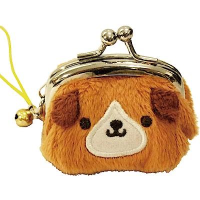動物樂園迷你珠扣零錢包 。小棕狗 UNIQUE