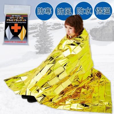 雙面可用。金銀雙色鋁箔保溫毯 (2個)