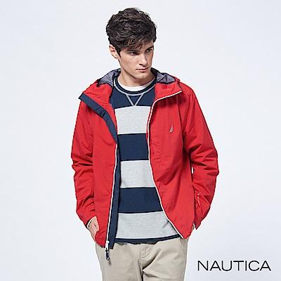 Nautica防水機能休閒輕便外套-紅色