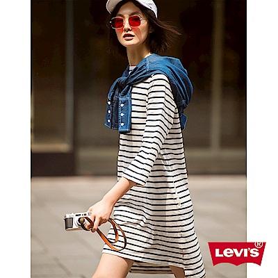 連身洋裝 黑白條紋 - Levis