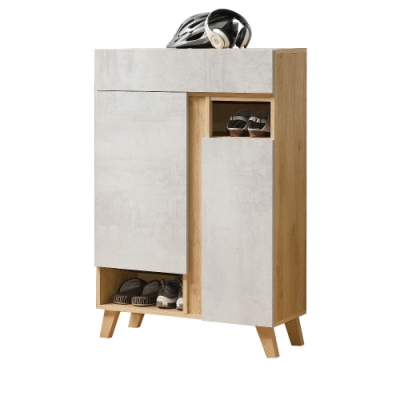 D&T德泰傢俱 JOYE清水模風格2.7尺鞋櫃-80x32x119.5cm