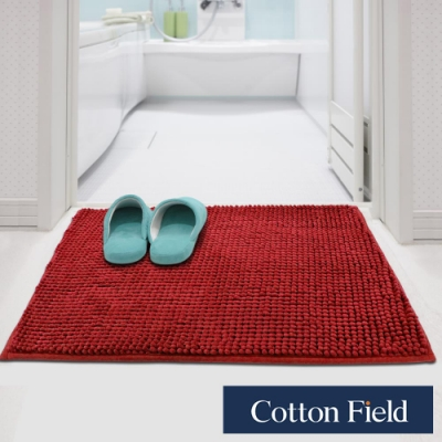 (1元加購)棉花田 荳荳 超細纖維吸水防滑踏墊-紅色