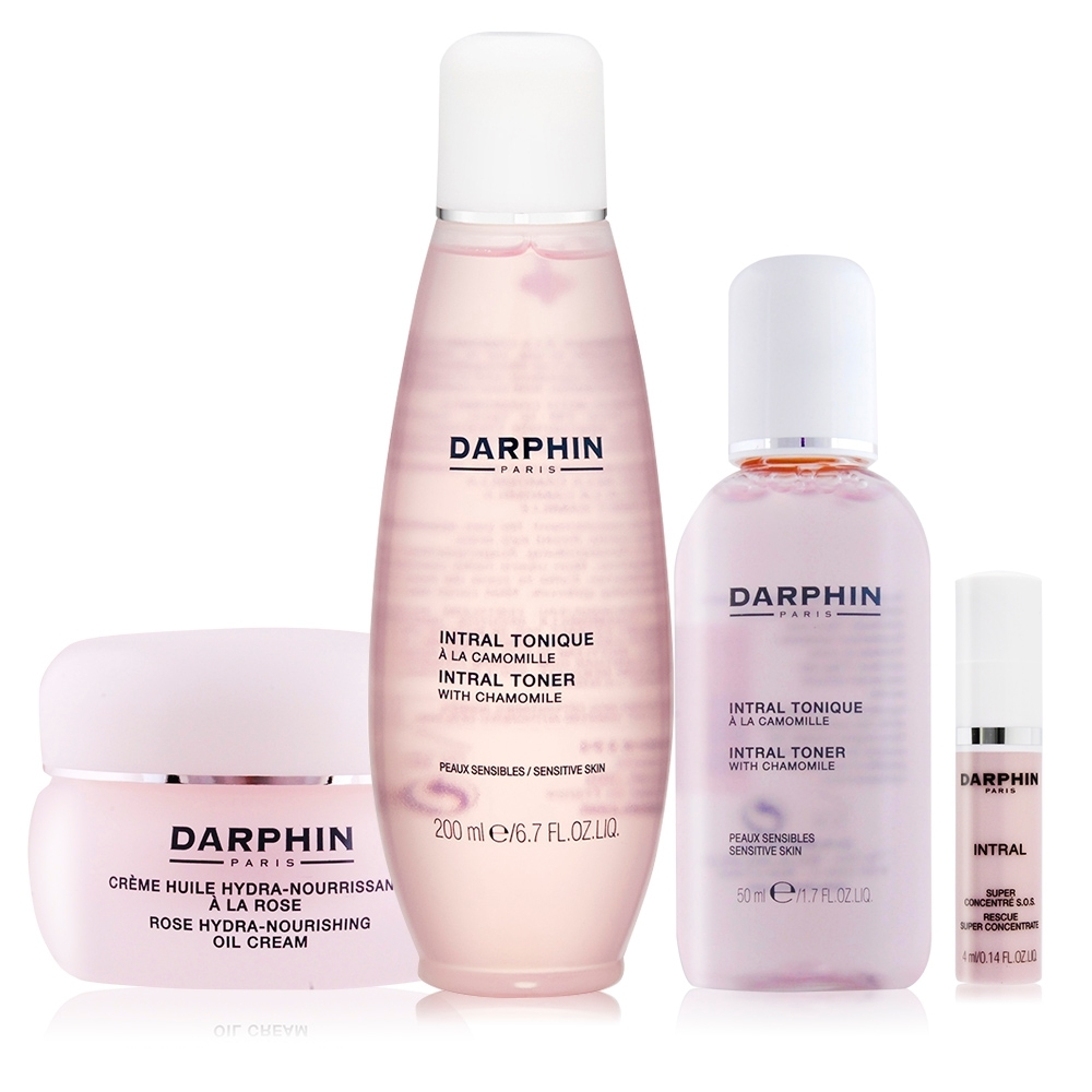 Darphin 朵法 全效潤澤舒緩組[化妝水200ml+50ml+玫瑰乳霜]加贈濃縮修護精華