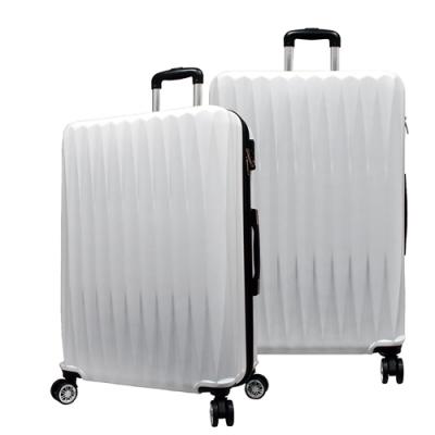 RAIN DEER 馬蒂司24吋ABS拉鍊行李箱/旅行箱-白色
