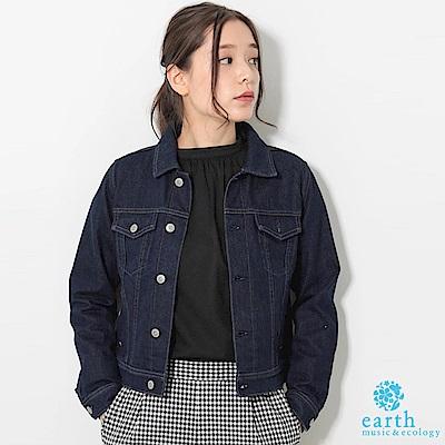 earth music美國棉定番短版牛仔外套