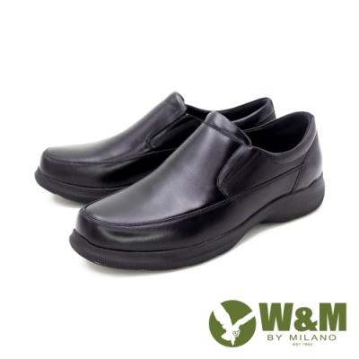 W&M(男)圓頭素面莫卡辛 樂福鞋 開車鞋 男鞋 -黑(另有棕)