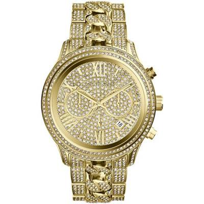 Michael Kors 趨勢潮三眼都會腕錶-金/42mm