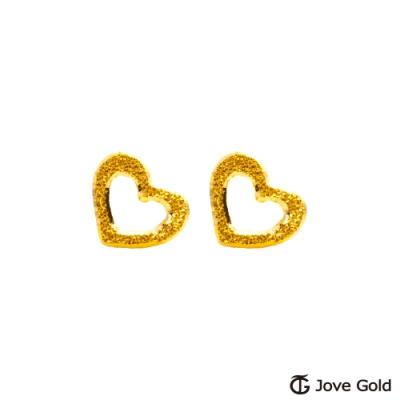 Jove Gold 漾金飾 等候愛情黃金耳環