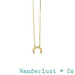 Wanderlust+Co月亮寶石項鍊 - 金色