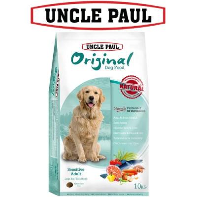 UNCLE PAUL 保羅叔叔田園生機狗食 10kg 低敏成犬 大顆粒 顧關節