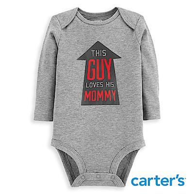 Carter's 趣味文字印圖長袖包屁衣