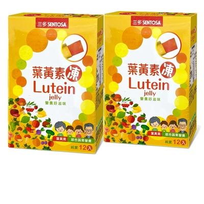 三多 葉黃素凍2入組(12條/盒)葉黃素綜合蔬果營養;方便好入口;純素可