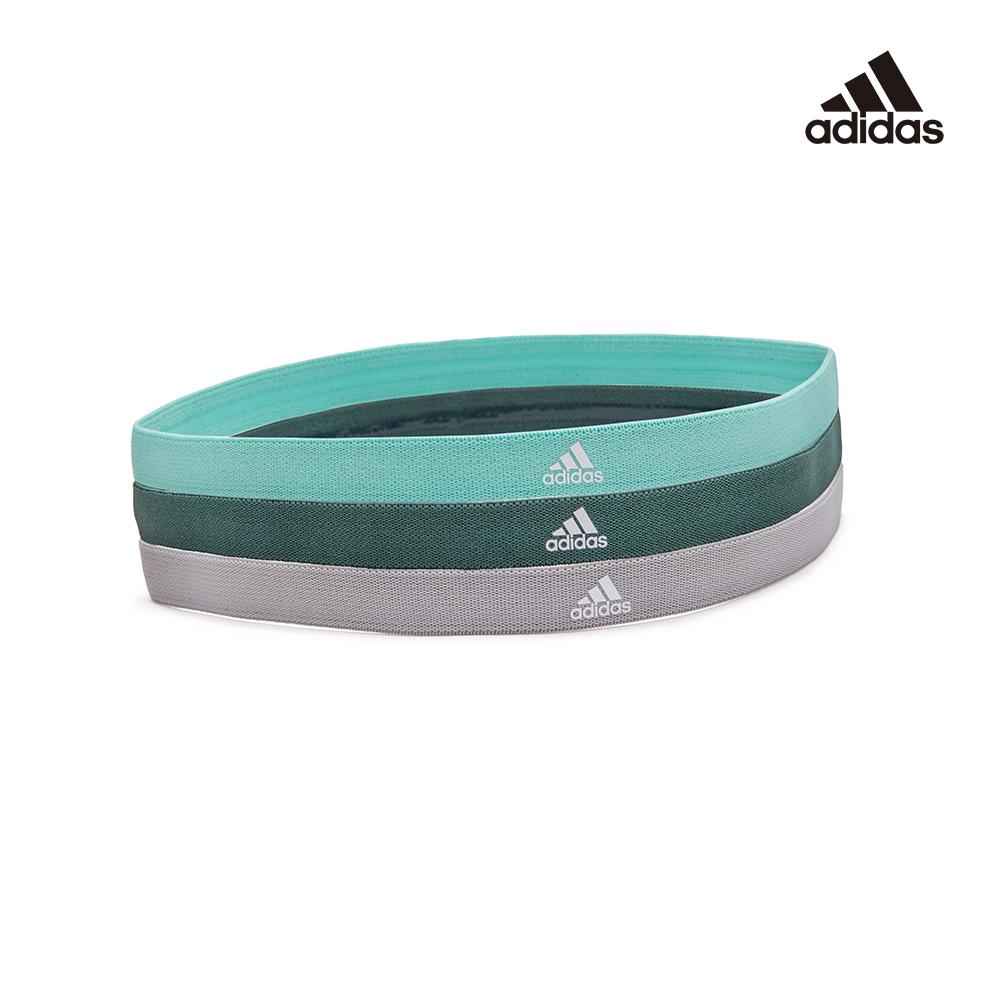 Adidas Yoga 止滑運動髮帶組(淺灰/薄荷綠/森林綠)