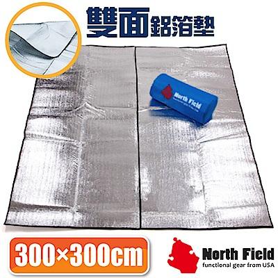 美國 North Field 3mm雙面銀加強隔絕6-8人汽車露營帳蓬鋁箔睡墊