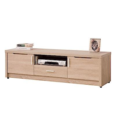 文創集 雪莉時尚5尺木紋電視櫃/視聽櫃-150x40x43.5cm免組