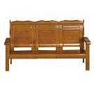 綠活居 瑟德亞雅緻風實木三人座沙發椅-175x74.5x96.5cm免組