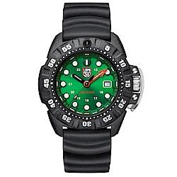 LUMINOX Scott Cassell Deep Dive 深潛腕錶-金屬綠x白時標