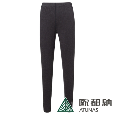 【ATUNAS 歐都納】女款熱流感保暖內著長褲/發熱褲/衛生褲A1UCAA06W黑