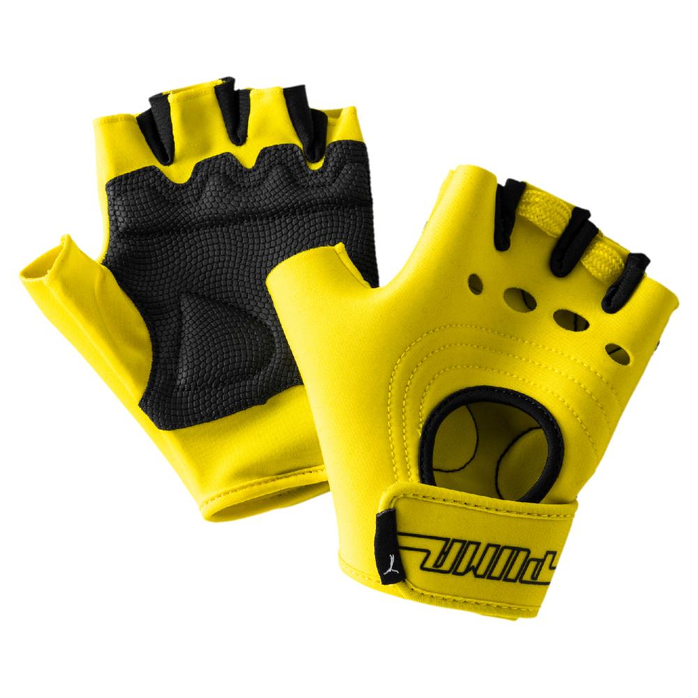 PUMA-女性Cosmic訓練手套-鮮亮黃