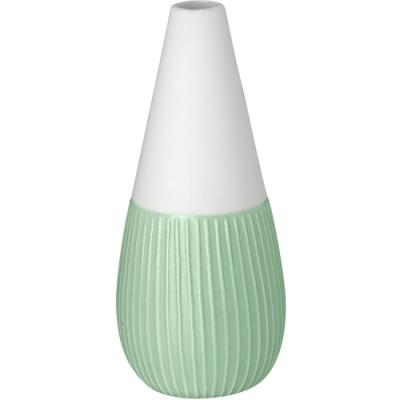 《RADER》迷你白瓷花器(綠直紋)